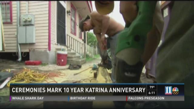 Ceremonies mark 10 year Katrina anniversary