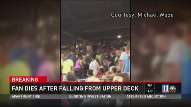 Fan dies after falling from upper deck