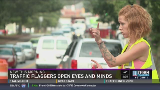 Female flaggers turn heads, open minds