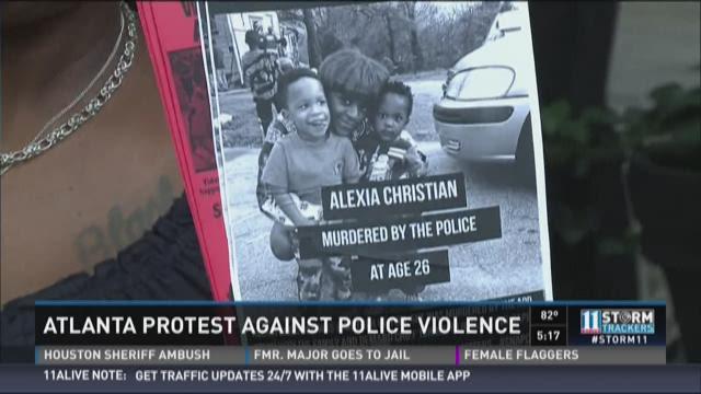 Janaelle Monae attends rally in Atlanta
