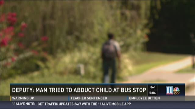 Deputy: Man tried to abduct a child at Cherokee Co. bus stop