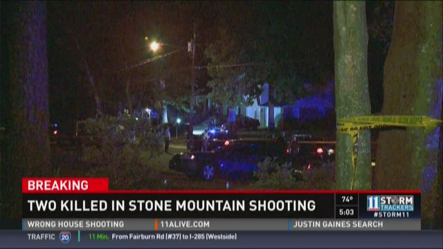 2 people killed in Stone Mountain shooting