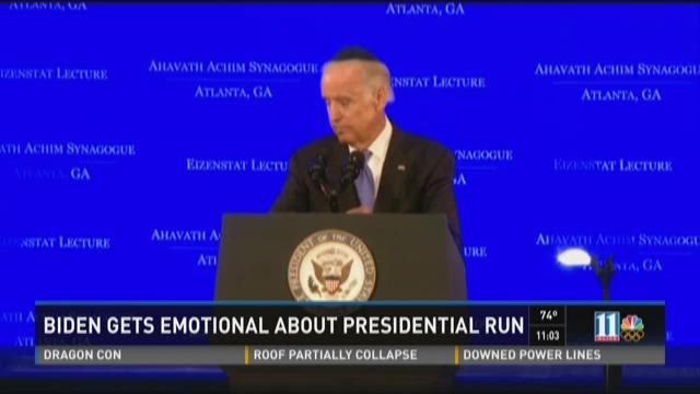 Biden gets emotional about presidential run