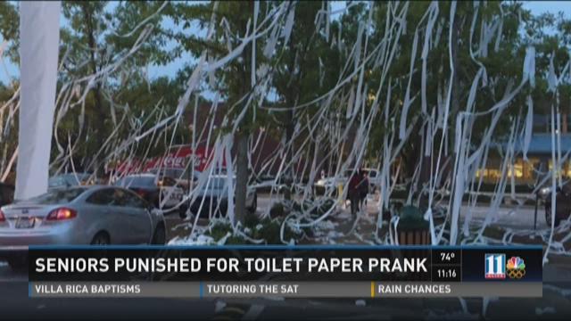 Seniors punished for toilet paper prank