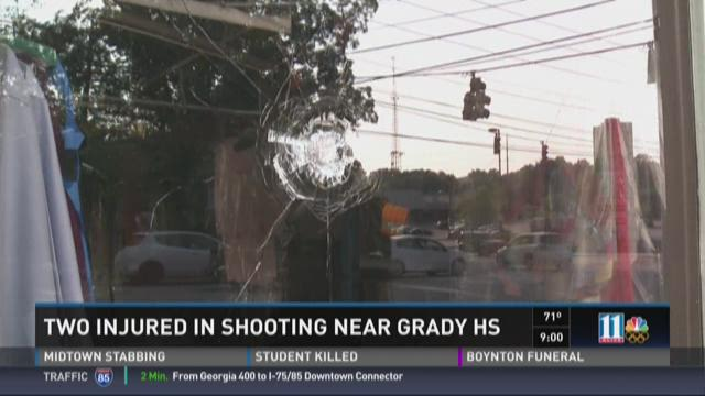 Authorities responded to a shooting at the corner of