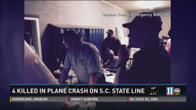 4 killed in plane crash on S.C. state line