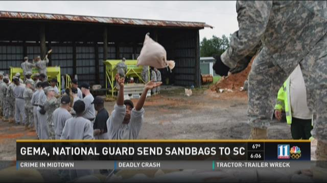 GEMA, National Guard send sandbags to S.C.
