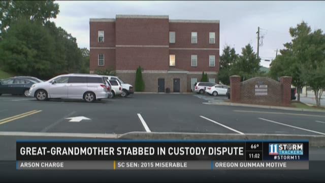 Great-grandmother stabbed in custody dispute