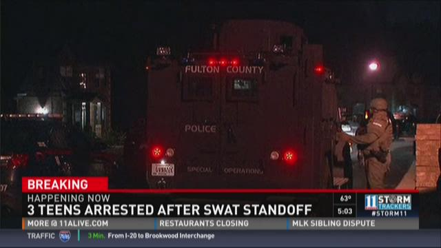 Three teens arrested in SWAT standoff