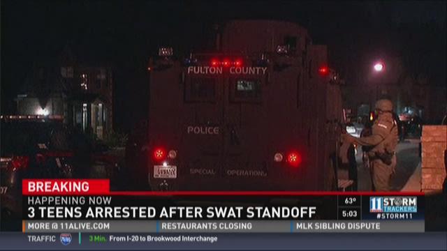 Three teens arrested in SWAT standoff