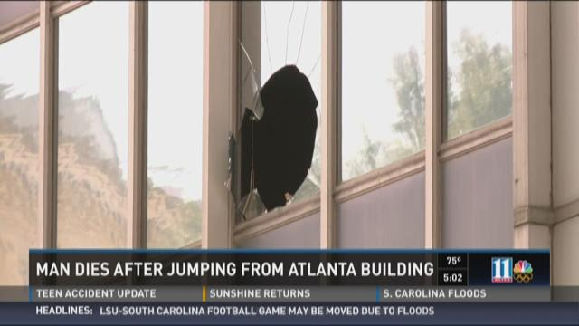 Handcuffed man dies after jumping from Atlanta building