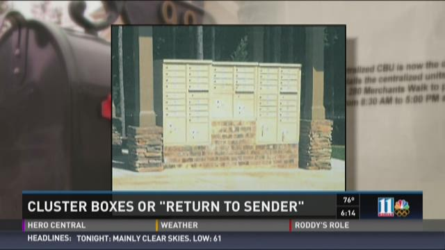 Cluster boxes or 'return to sender'