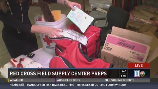 US Red Cross field supply center preps