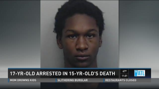 17-year-old arrested in 15-year-old's death