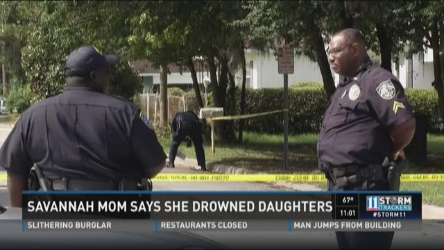 Savannah mom says she drowned her daughters