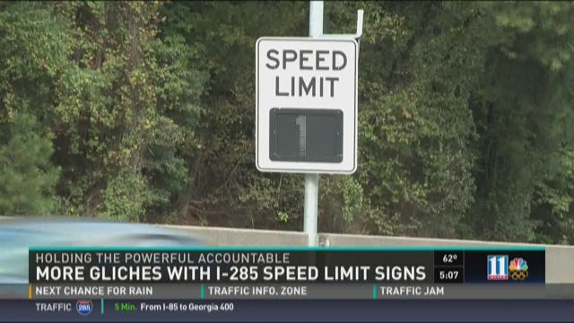 Commuter Dude: More glitches with I-285 speed limit signs