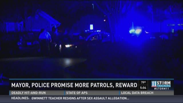 Mayor, police promise more patrols, reward