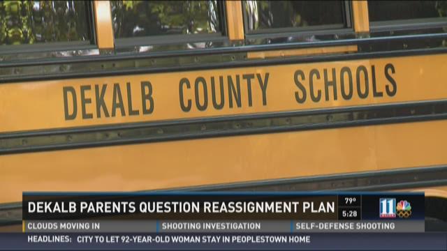 DeKalb parents question reassignment plan
