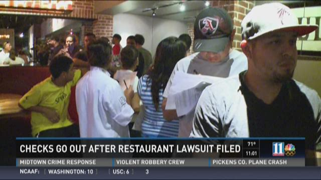 Checks go out after restaurant lawsuit filed