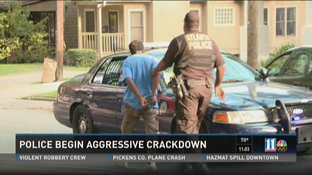Police begin aggressive crackdown