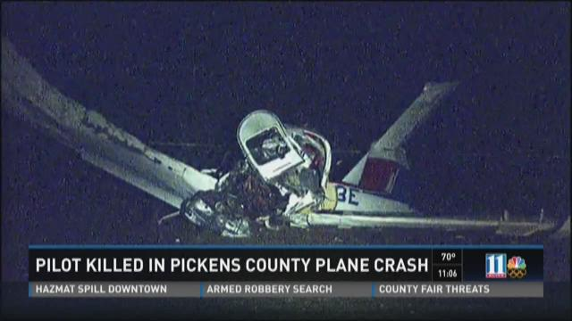 Pilot killed in Pickens County plane crash