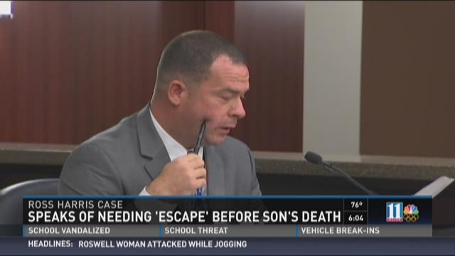 Ross Harris Case: Speaks of needing 'escape' before son's death