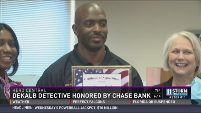 Hero Central: DeKalb detective honored by Chase Bank
