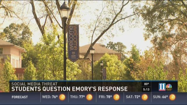 Students question Emory's response