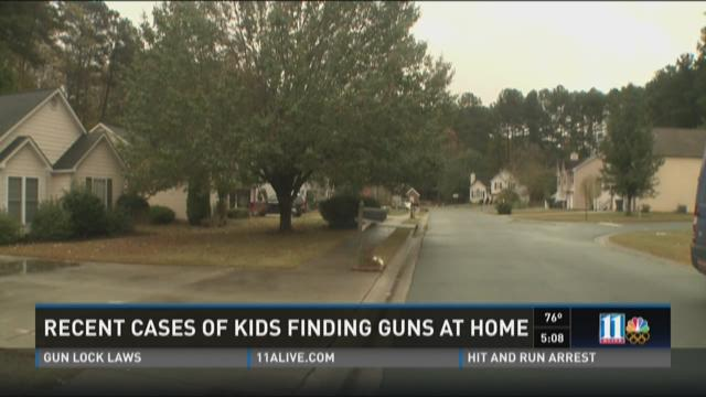 Recent cases of kids finding guns at home