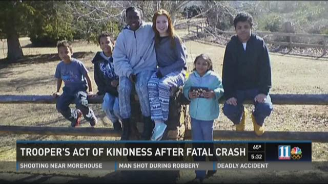 Trooper's act of kindness after fatal crash