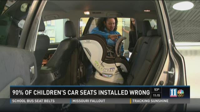 Your child's car seat is probably installed wrong