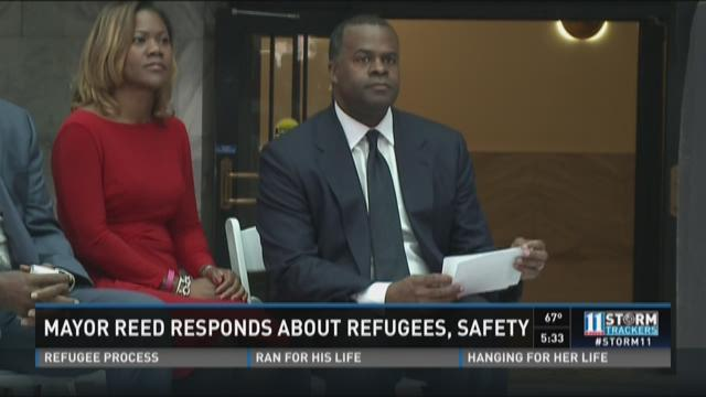 Mayor Reed responds about refugees, safety
