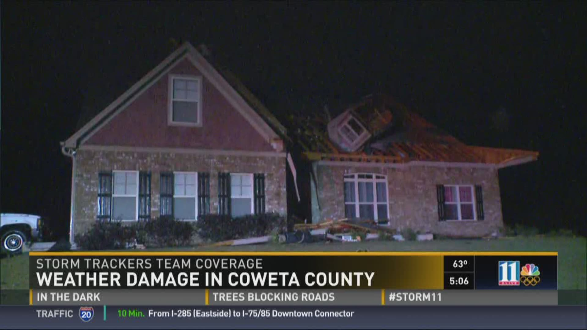 Coweta County homes sustain significant damage in storms