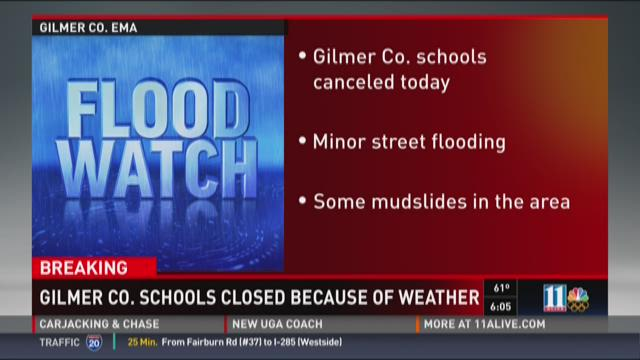 Gilmer County schools closed because of weather