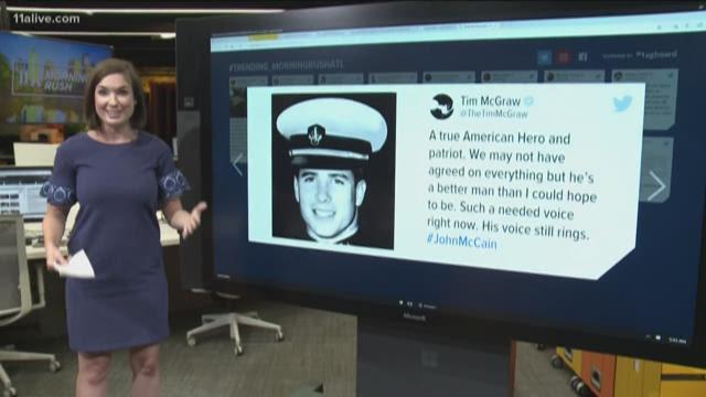 Tributes for Senator John McCain flood social media following his death
