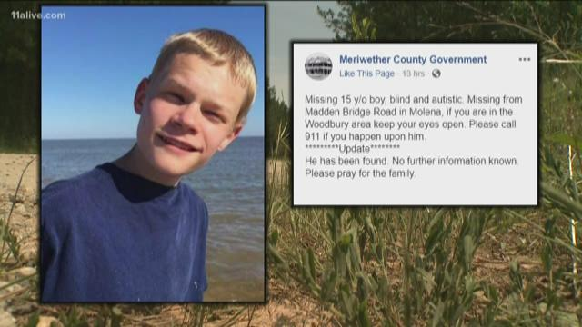 Missing blind teen with autism found dead